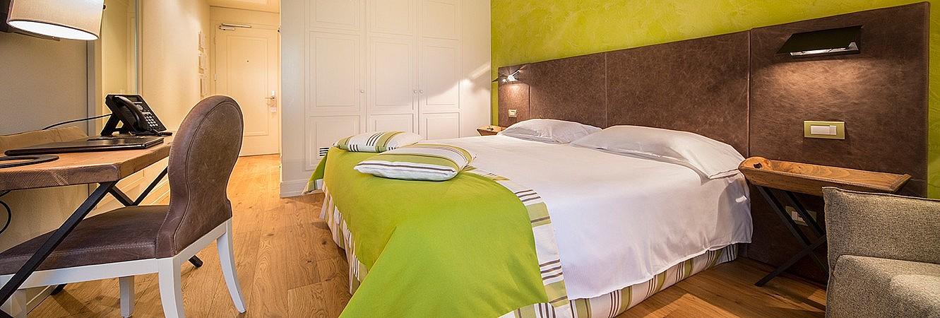 Very elegant bedroom in hotel in golf resort