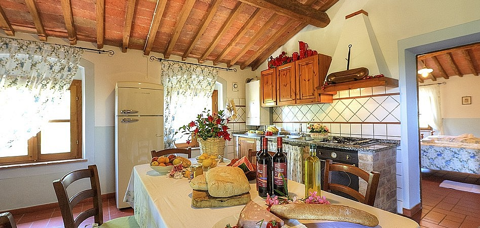 Kitchen of agriturismo in Montelopio