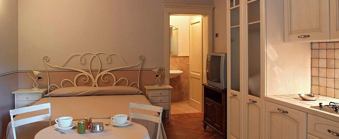 Small studio apartment in resort with restaurant, spa and pool