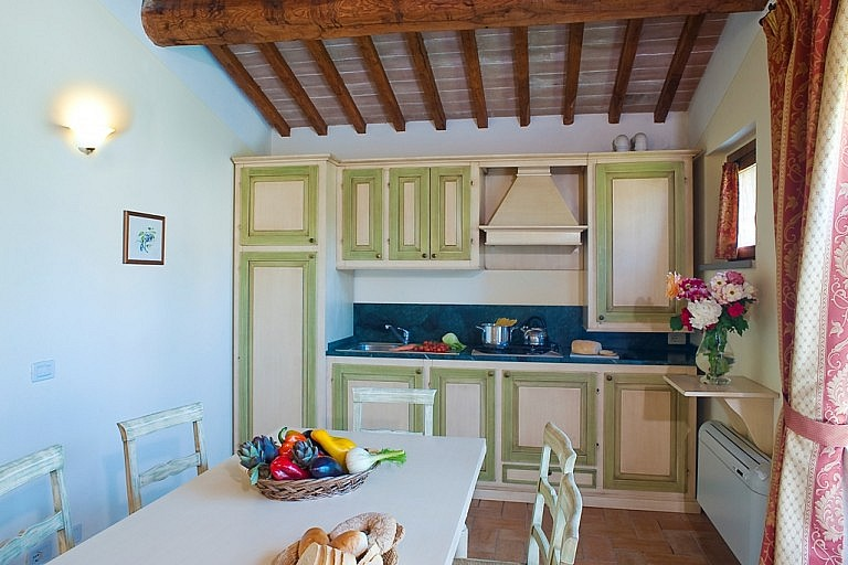 Picturesque kitchen in Tuscan country resort