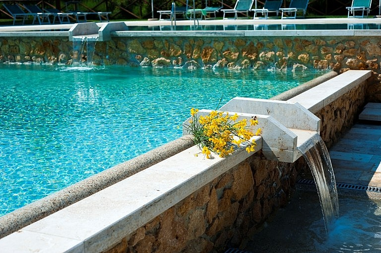 Charming pools at a country resort in Tuscany