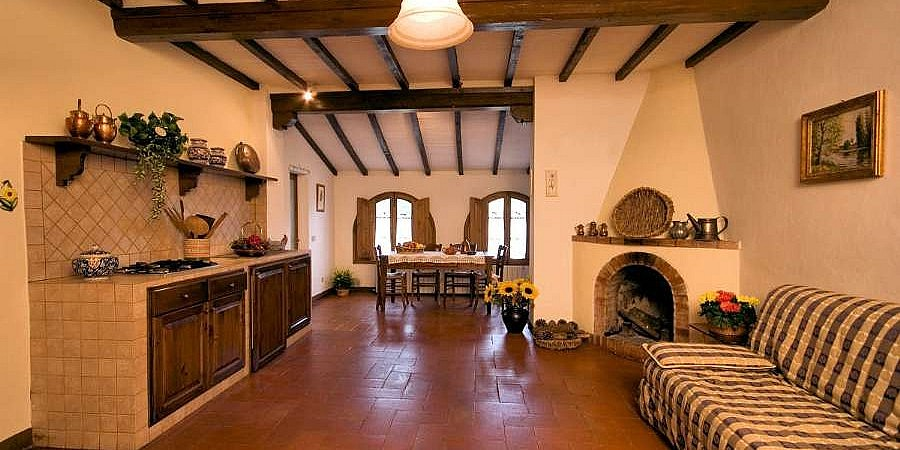 Units with fireplace at farmstay in Colle Valdelsa