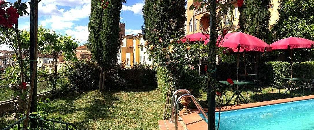 Boutique hotel with pool in medieval village