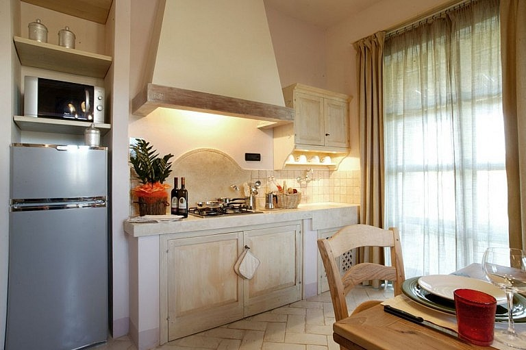 Elegant kitchen in farmhouse by the Tuscan coast