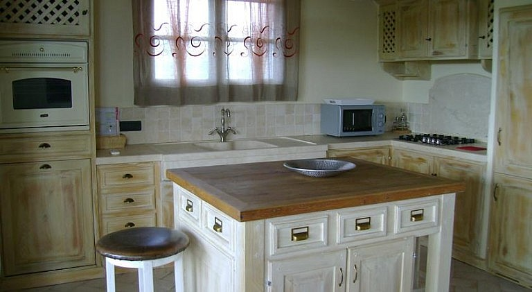 Kitchen of an elegant unit in agriturismo with pool in Val di Cornia