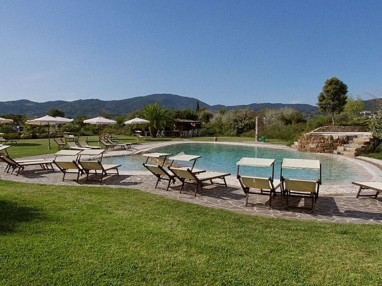Charming pool at an agriturismo with luxury units
