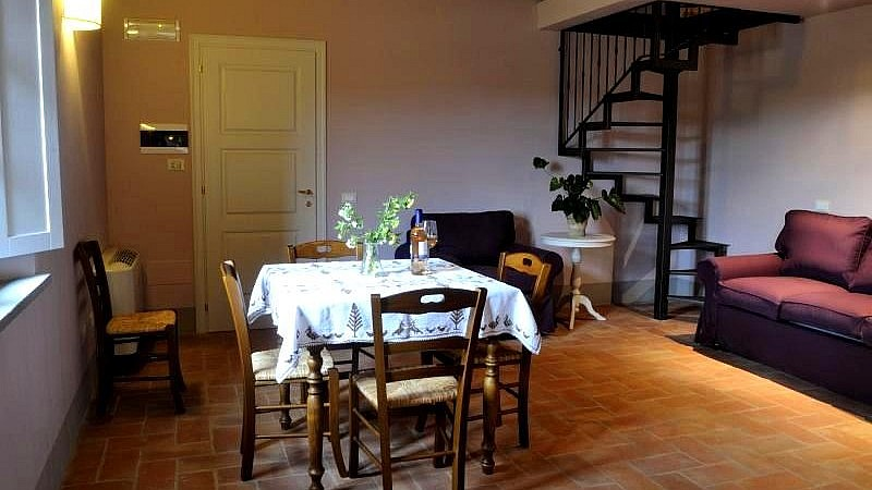 Dining room in elegant country resort