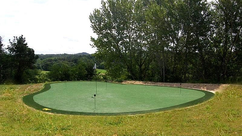 Golf practice ground in country resort