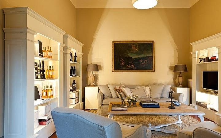Internal sitting room in an elegant noble villa by Firenze