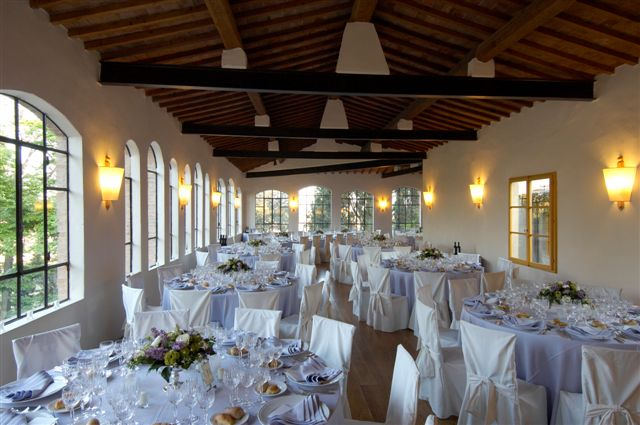 Wedding reception room at a noble villa