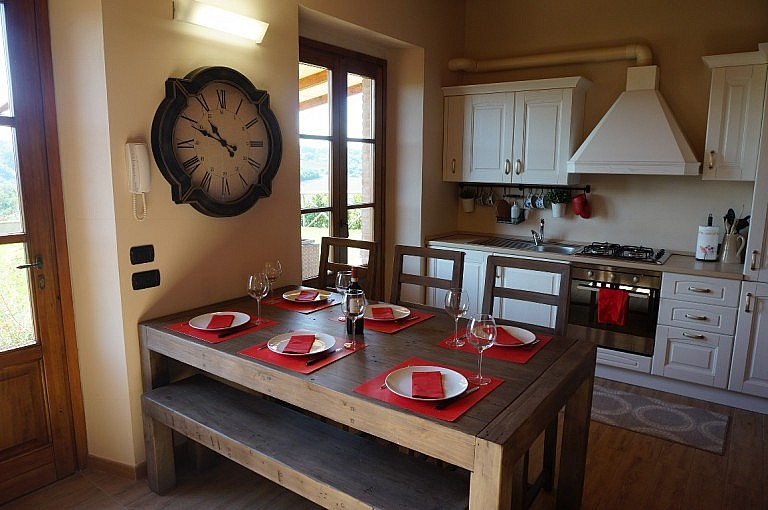 Elegant and welcoming kitchen in unit near Volterra