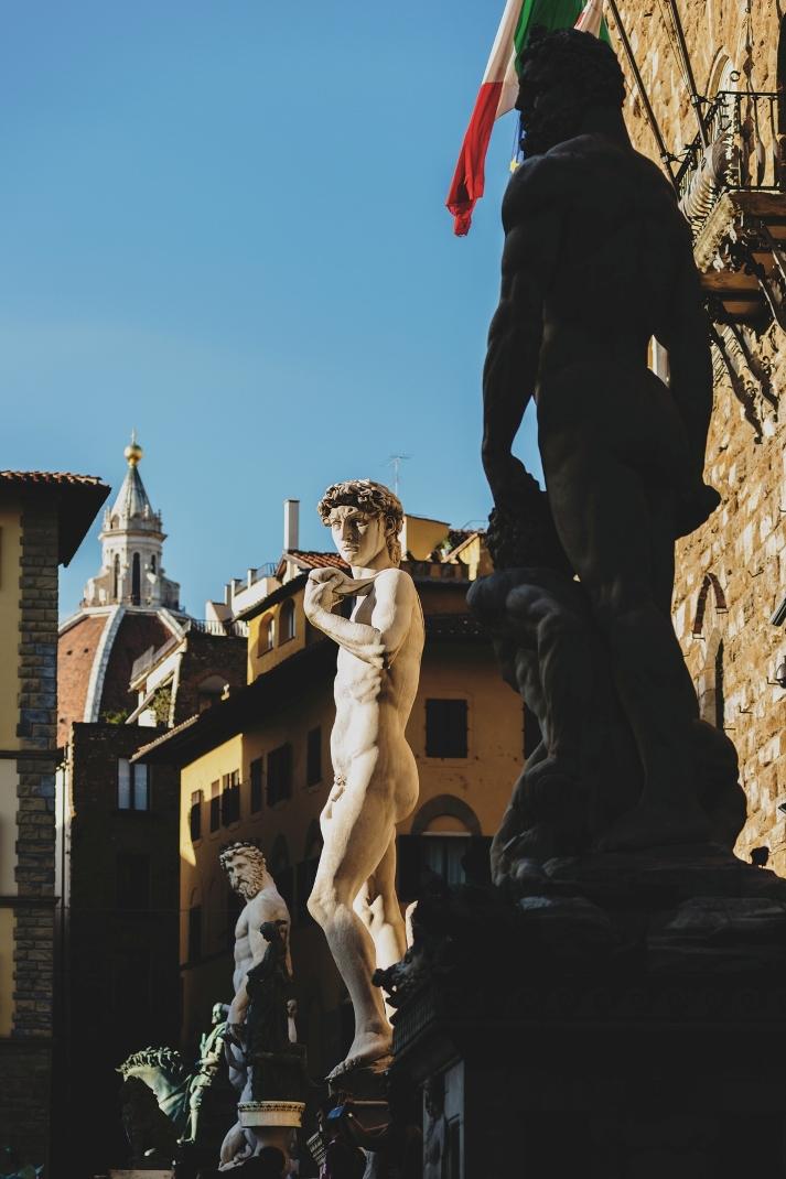 Statues of Piazza della Signoria in Florence