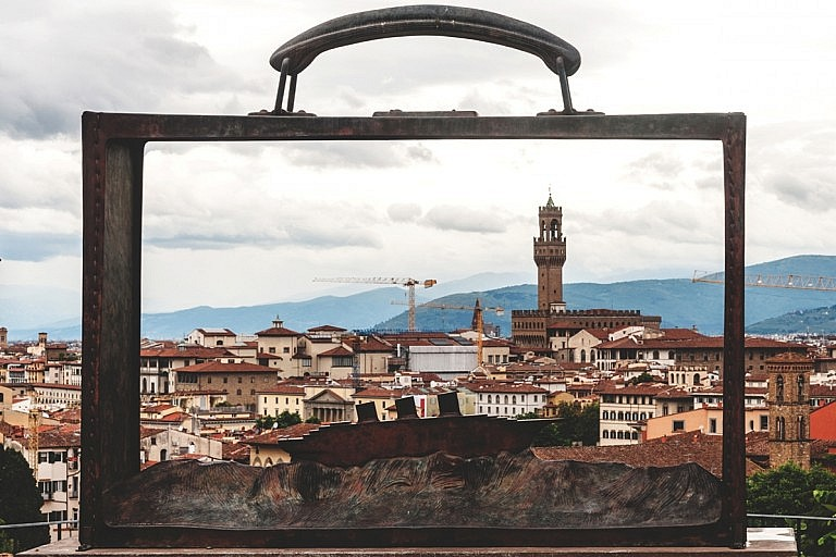 Roofs of Florence in a case