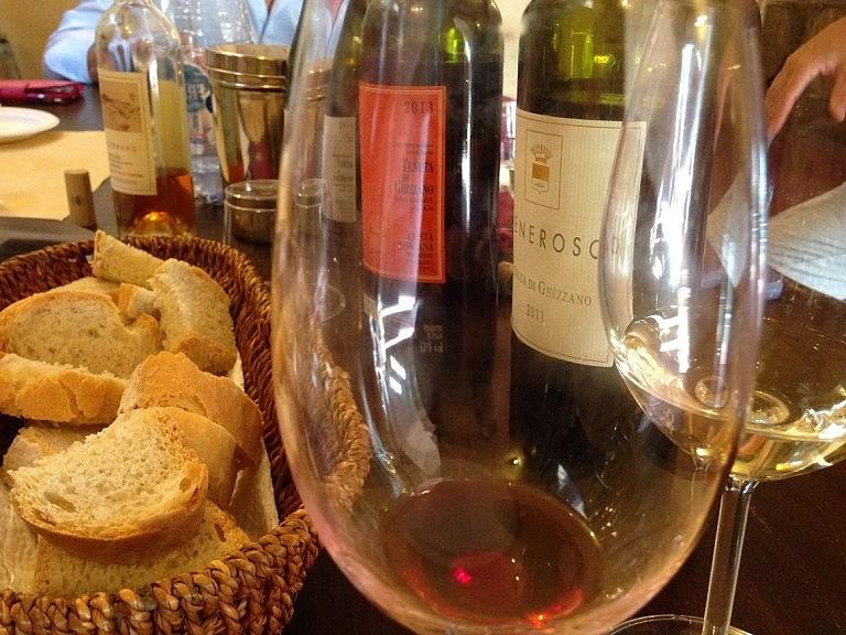 Wine sampling at Tenuta di Ghizzano
