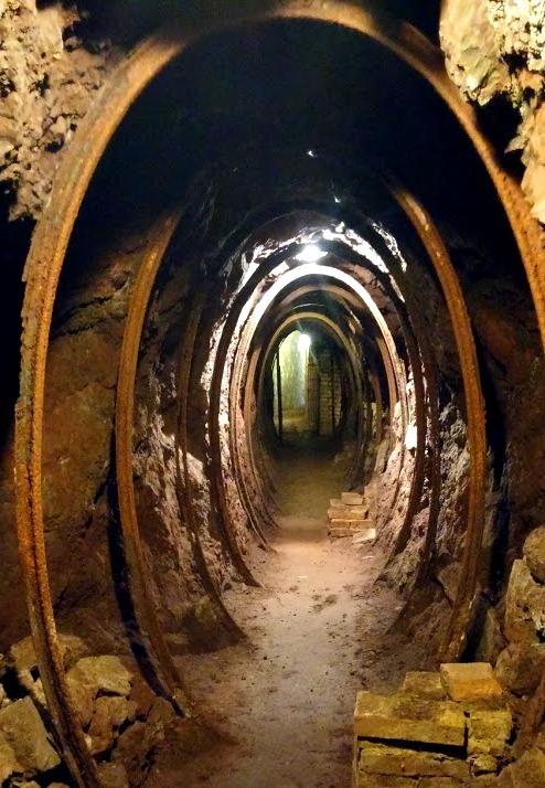 Tunnel in coppermine near Volterra