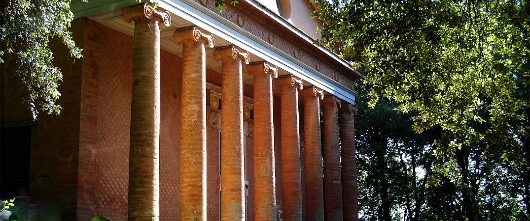 The stunning facade of the temple of Minerva in Montefoscoli