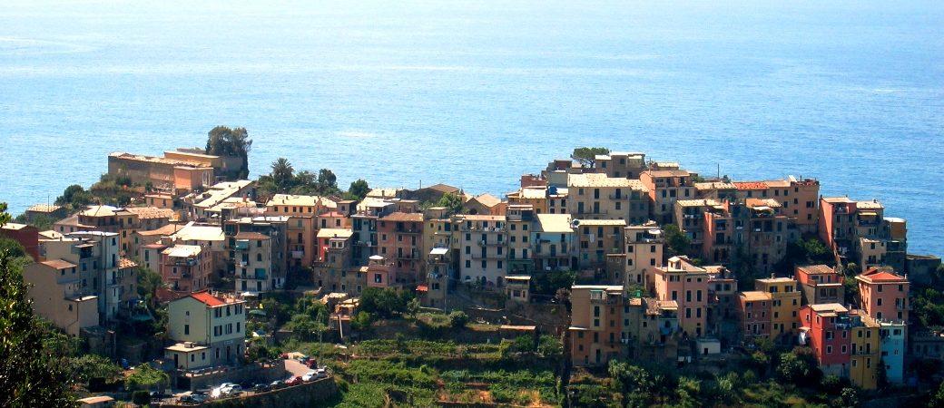 A side of Corniglia in the Cinque Terre park
