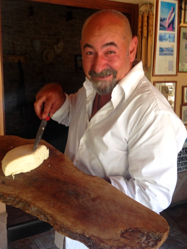 Giovanni, the cheese maker in Tuscany