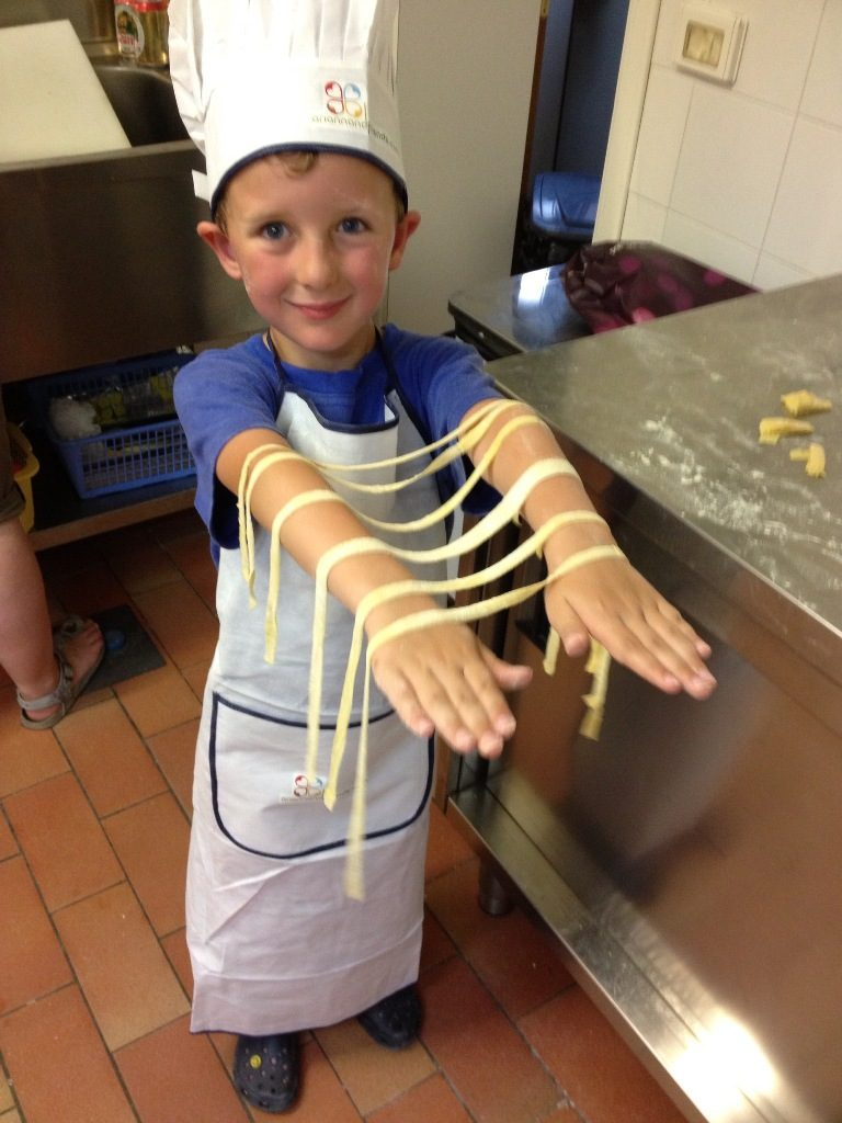 A child and his tagliatelle