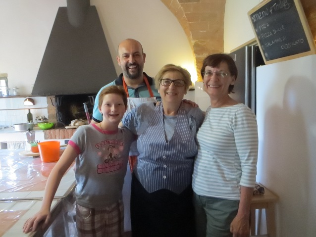 Ester and Massimo with a happy family
