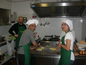 A private cooking class as a main activity of a honeymoon in Tuscany