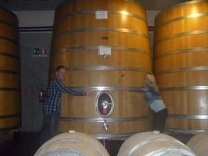 A couple on their honeymoon visited a great Tuscan winery