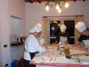 A private class delivered to a rental unit in Chianti