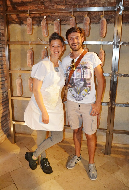Luca and the butcher from Lari