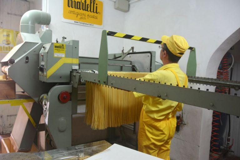 Luca cutting spaghetti