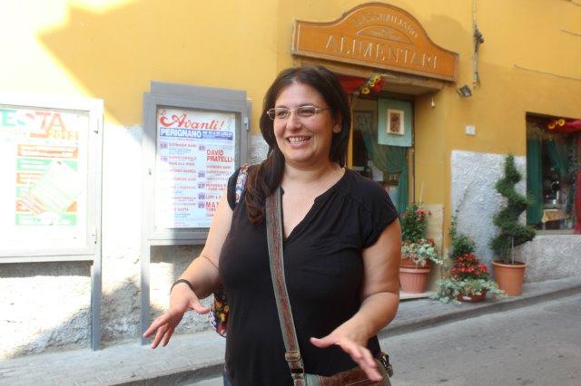 Arianna at the entrance of Lari