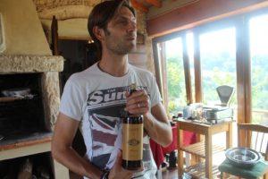 Luca presenting a dessert wine