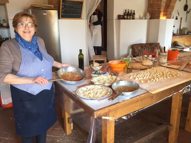 Gnocchi, ravioli and tagliatelle
