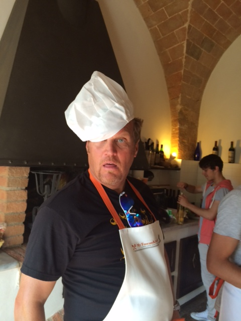 Making fun with the chef's hat