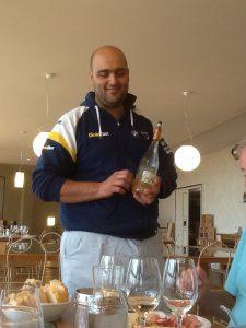 Mirko serving rosee wine