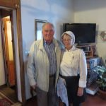 Licia the chef in Tuscany with the husband Franco