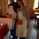 A couple in Tuscany for a cooking class