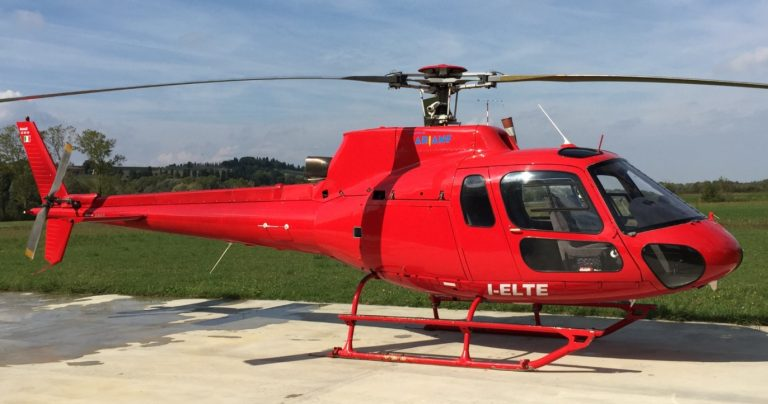Helicopter routes to the Carrara marble quarries