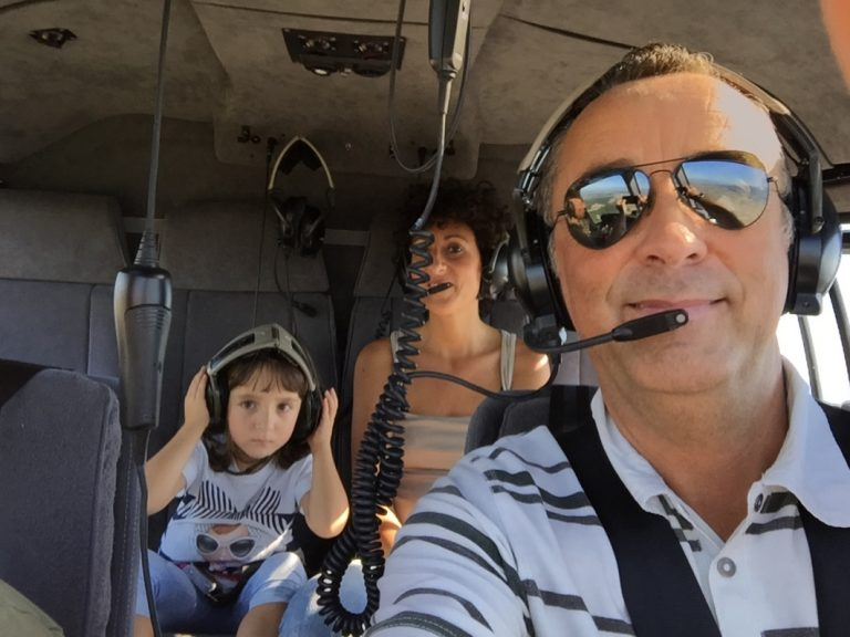 5 seats on a helicopter across Tuscany