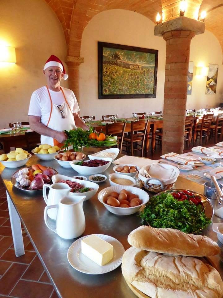 All ingredients of our Christmas cookery class