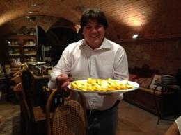 Cheese tasting at a Tuscan farm