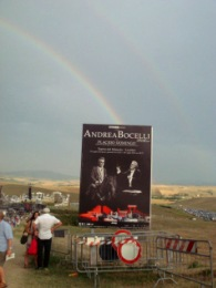 Rainbow over Teatro del Silenzio
