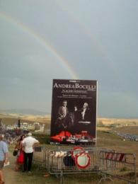 Rainbow over Teatro del Silenzio