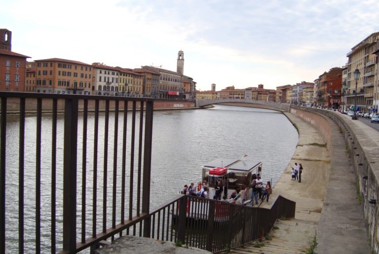 Ferryboat along the Arno River