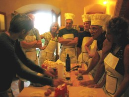 Group cooking class at private villa