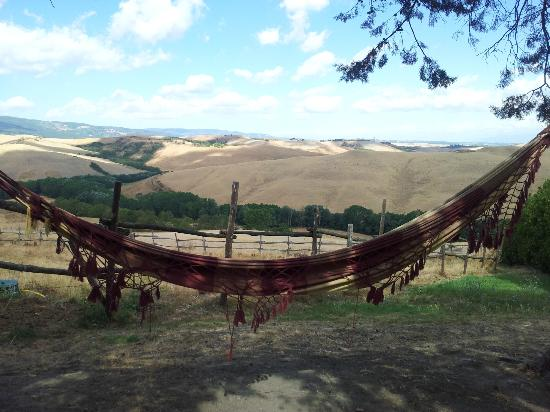 Relaxing sleeps on hammock in Tuscan agriturismo