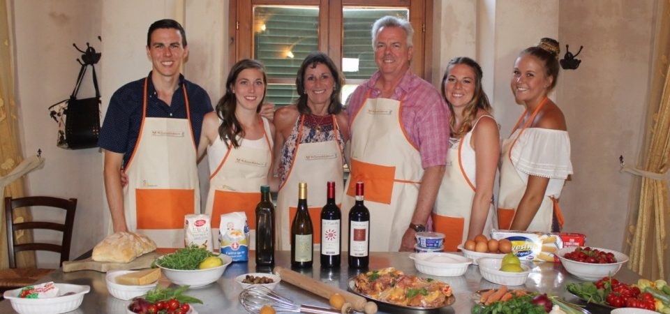 Private family cooking class at our Tuscan winery