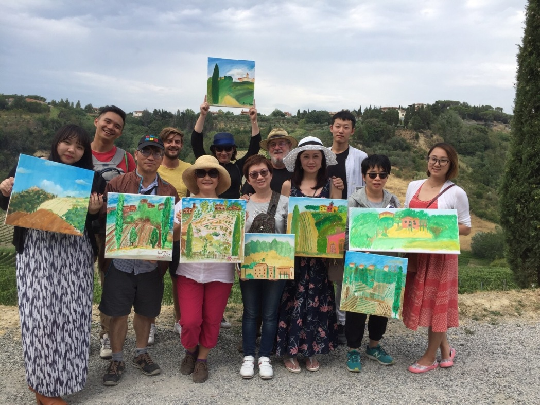 Private painting class in Tuscany in 2017