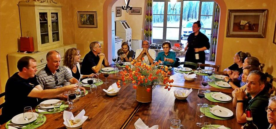 A moment of our chef service in Tuscany