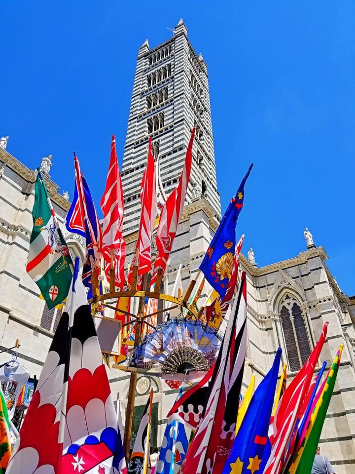 The belltower of Siena