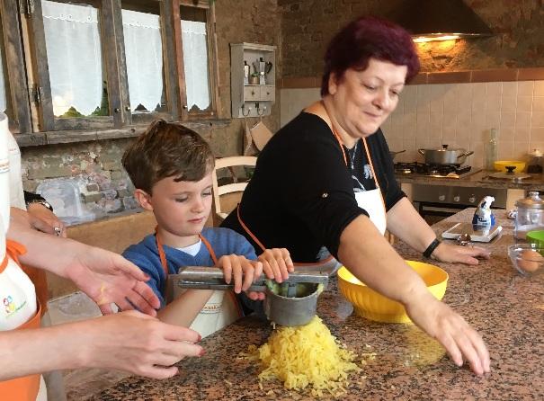 Making gnocchi with Daniela
